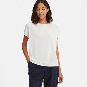 Uniqlo White Drape Shirt